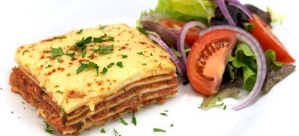 Autentisk familie lasagne