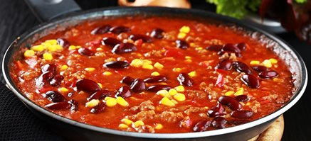 Chili con carne - kog selv ris - salat 4. pers FROST
