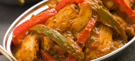 Chicken with green peppers