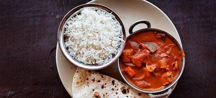 Dagens indisk ret med koge selv ris - salat - brød - 2 pers