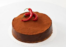 Chocolate chili cake (6-8 pers)